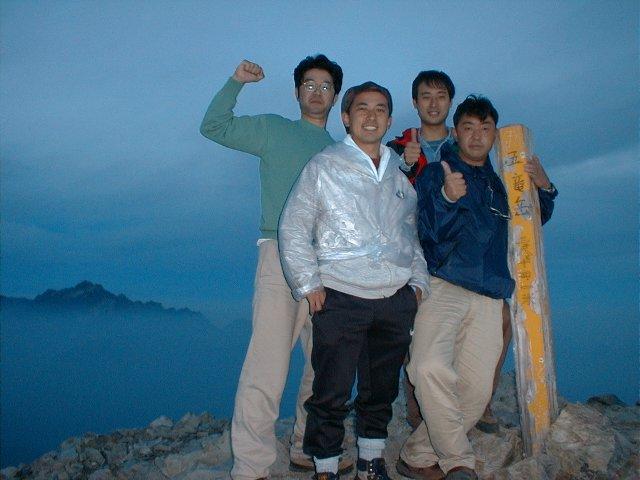 8月22日 五竜岳 山頂