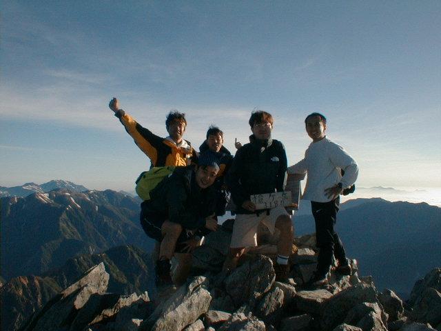 7月21日 槍ヶ岳 山頂