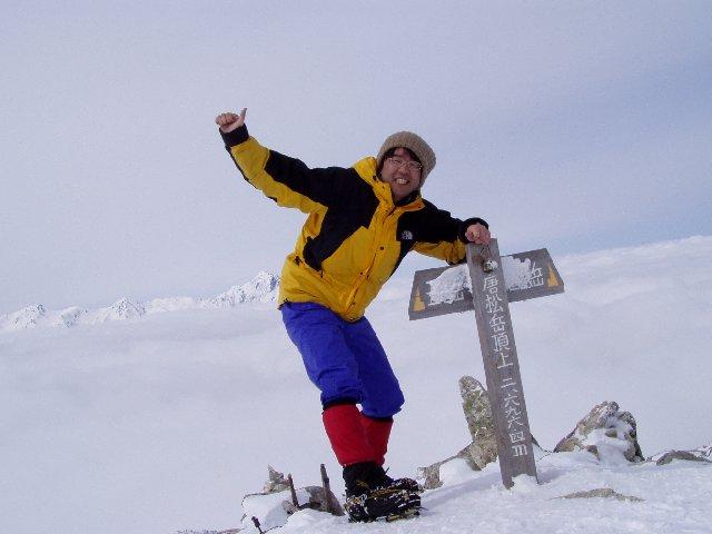 3月29日 唐松岳 山頂