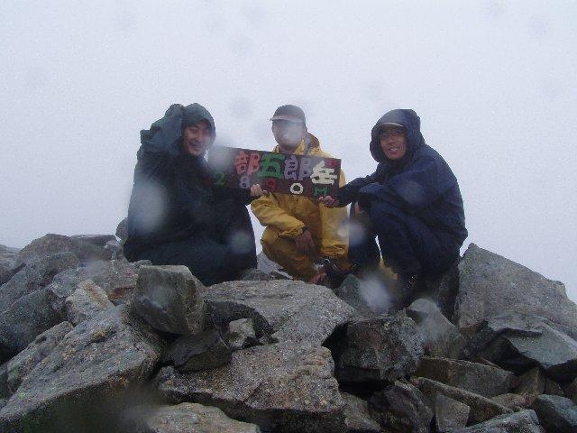 8月11日 黒部五郎岳 山頂