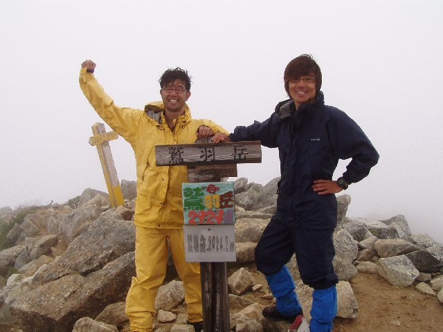 8月12日 鷲羽岳 山頂