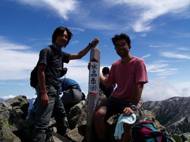 8月13日 水晶岳 山頂