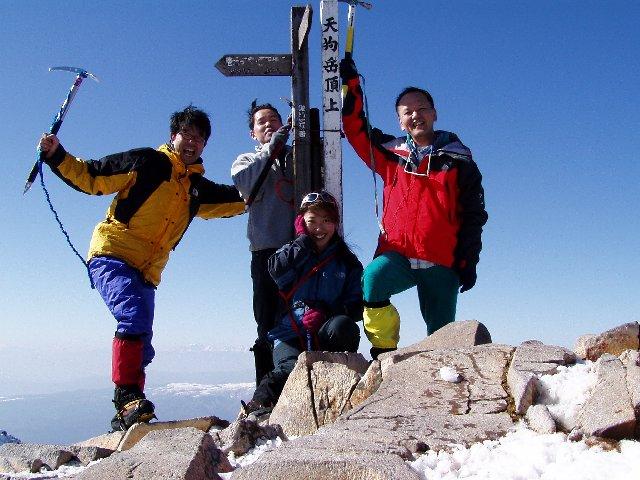 2月20日 東天狗岳(北八ヶ岳) 山頂