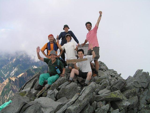8月6日 槍ヶ岳 山頂