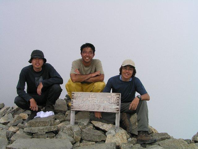 8月7日 笠ヶ岳 山頂