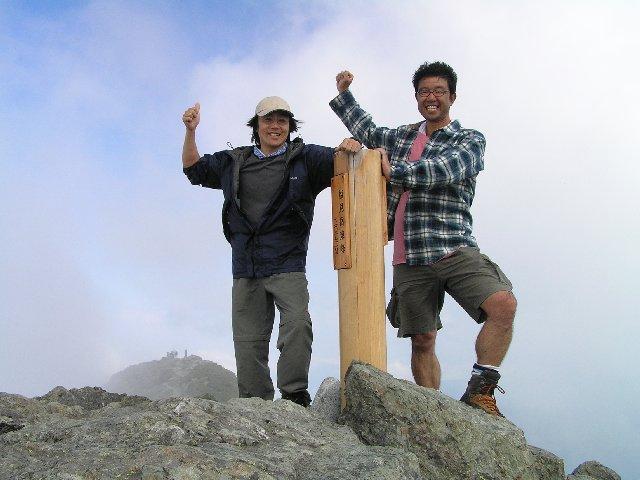 8月6日 塩見岳 山頂