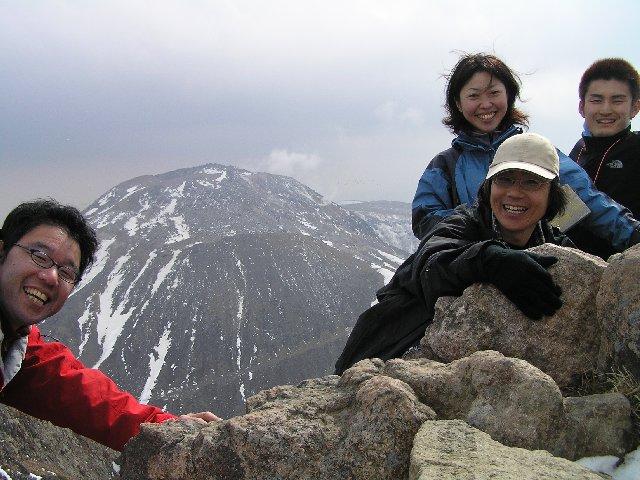 4月6日 朝日岳 山頂