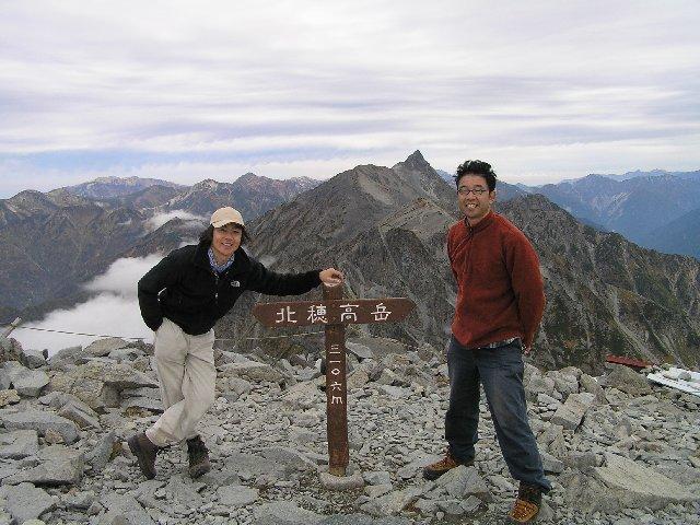 10月6日 北穂高岳 山頂