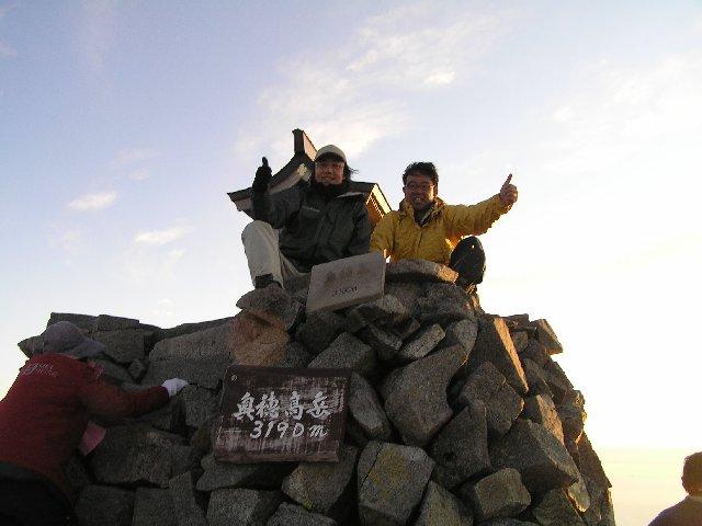 10月7日 奥穂高岳 山頂