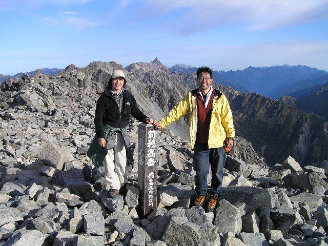 10月7日 前穂高岳 山頂