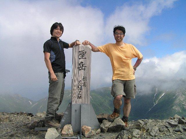 7月20日 聖岳 山頂