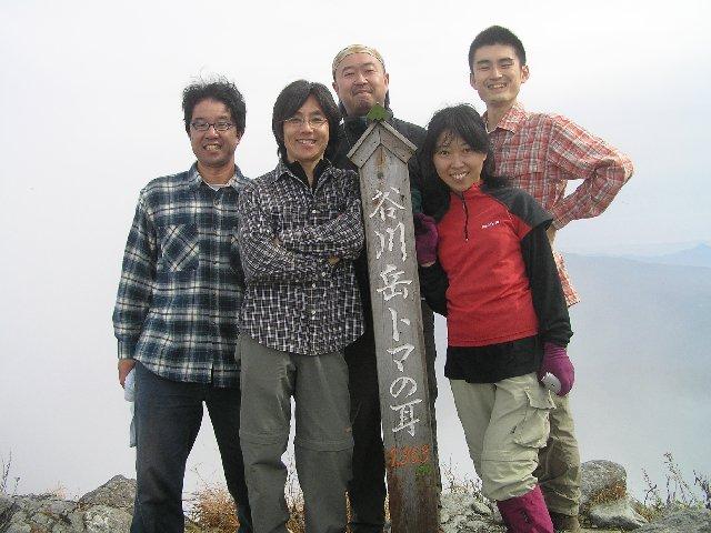 10月25日 谷川岳トマノ耳 山頂