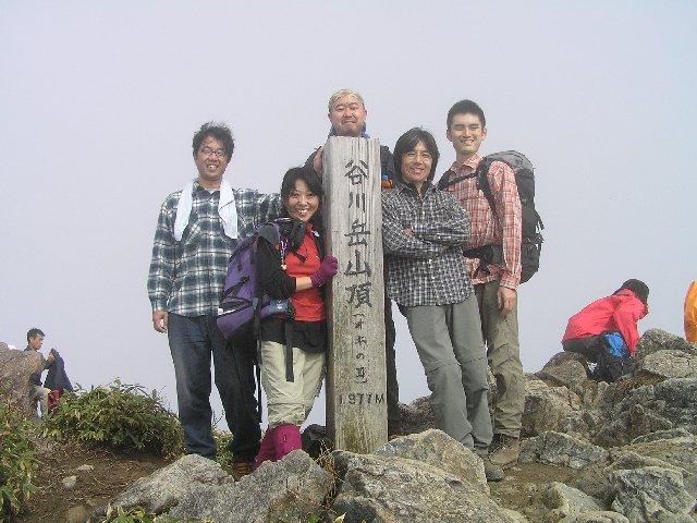 10月25日 谷川岳オキノ耳 山頂