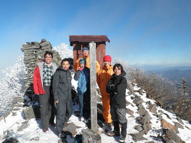 12月4日 四阿山 山頂