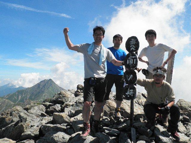 7月28日 間ノ岳 山頂
