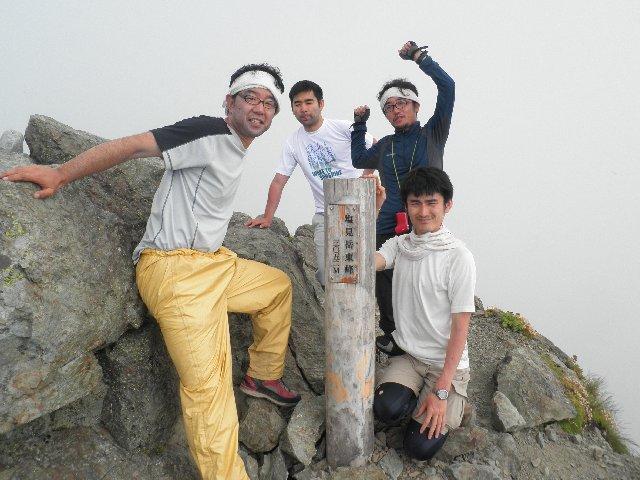 7月29日 塩見岳 山頂