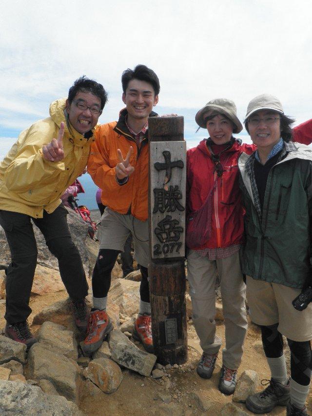 7月14日 十勝岳 山頂